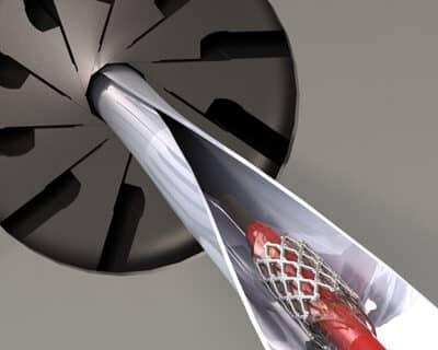 stent crimper auto sheath rendering